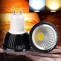 1 個新 COB LED Gu10 9 ワット 12 ワット 15 ワット調光可能な 110 V 220 V 85-265 265V スポットライトは、ウォームホワイト/ピュアホワイト/コールドホワイト電球ランプライト