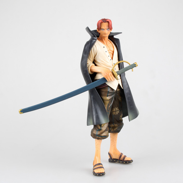 Huong Anime Cartoon One Piece 24CM Shanks PVC Action Figure Collectible Brinquedos Model Toy OnePiece