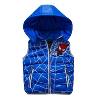2017new Arrival Children Clothing Winter Outerwear Coats Boys Spiderman Vest Hooded Kids Jackets Baby Girl Warm