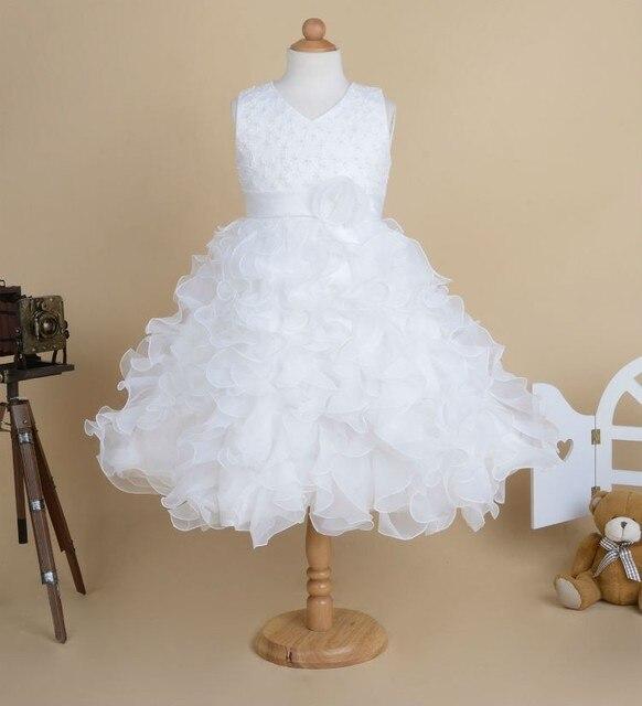 b8679002c568d Haute Qualité Nouvelle Fleur Fille Partie de Demoiselle D honneur Pageant Princesse  Robe Pour Les