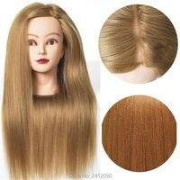 24'' Yaki Blonde Hair Styling Mannequins Cosmetology Mannequin Head for Hairdresser Dummy Doll heads Manik Hairstyle Wig Manikin