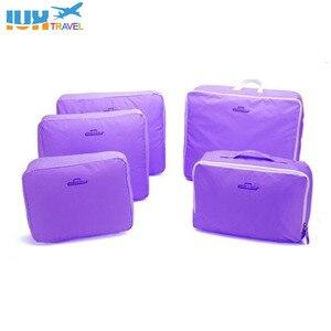 Image 1 - 5PCS/Set High Quality Oxford Cloth Travel Mesh Bag Luggage Organizer Packing Cube Organiser Travel Bags Travel Bags Packing Cube