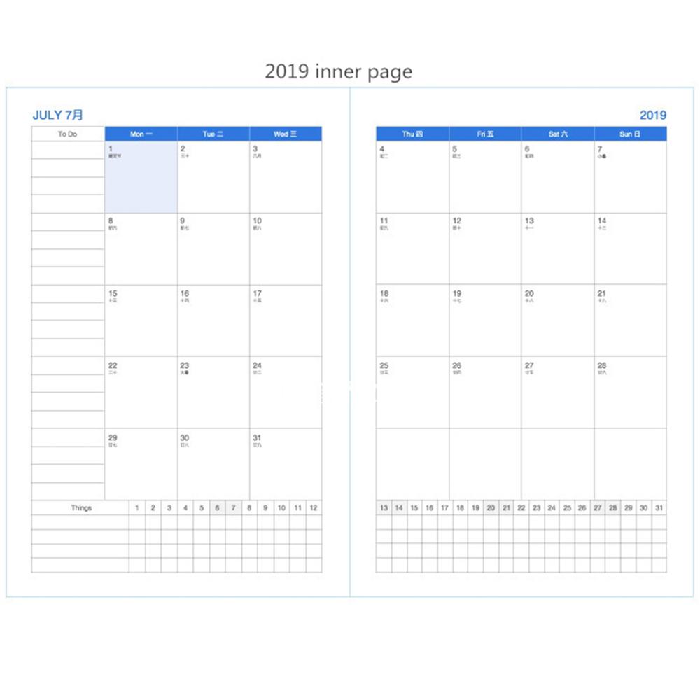Calendario Diario 2019.2019 Cuaderno A4 Kawaii 365 Diario Semanal Mensual Calendario Anual Calendario Planificador De Agenda Organizador Diario Libros Escuela Flor