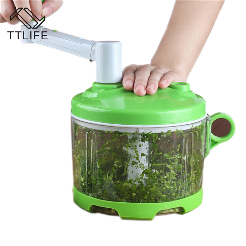 TTLIFE Multifunction Vegetable Chopper Cutter Processor Chopper Manual Meat Grinder Garlic Cutter Vegetable Fruit Twist Shredder