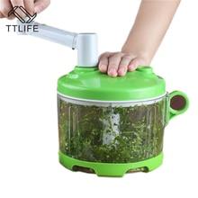 TTLIFE Multifunktions Gemüse Chopper Cutter Prozessor Chopper Manuellen Fleischwolf Knoblauch Cutter Gemüse Obst Twist Schredder