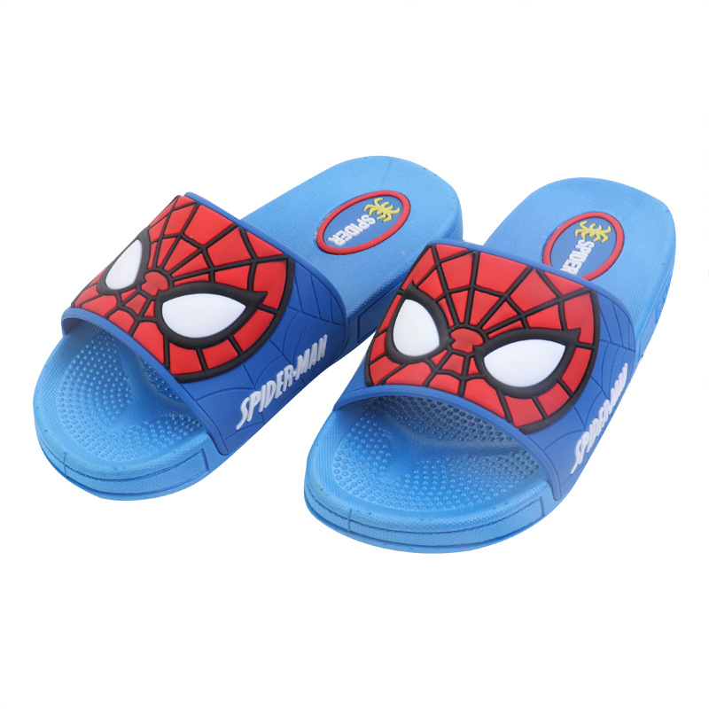 474092f4c 2019 Baby Boys Slippers Children Pvc Rubber Cartoon Spiderman Kids Home  Sandal Shower Shoes Soft Flat Shoes Boy Sandalia 26 35-in Slippers from  Mother ...