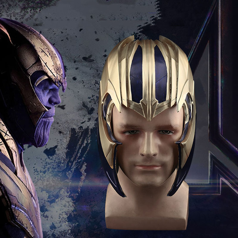 2019 film Avengers 4 Endgame Thanos Cosplay casque pleine tête PVC masque adultes unisexe accessoires super-héros Cosplay accessoire