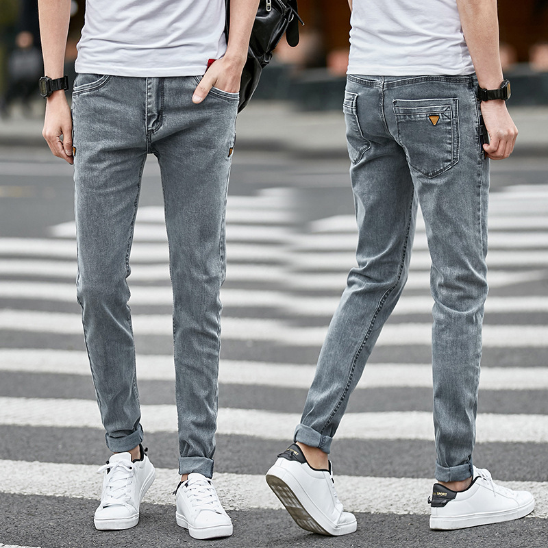 Uwback 2017 New Arrival Autumn Men Jeans Pants Stretch Gray Washed Casual Pants Plus Size Slim Denim Trousers Slim Pants XA236 2017jeans men new arrival brand clothing blue slim fit casual stretch denim pants high quality plus size free shipping