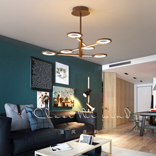 Omicron Creative Modern LED Pendant Lights Brown Suspension Lamparas For Study Living Room Restaurant Cafe Decoration Lamp