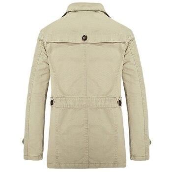 Brand New Winter Trench Coat Designer Thick Warm 2018 Casual Slim Windbreaker Jacket Male Pure Color Jackets casaco masculino