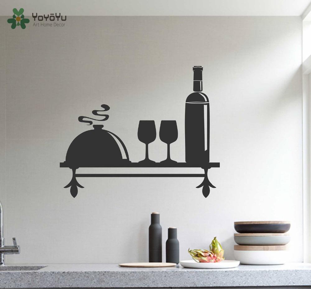 cocina vinilos decorativos patrn vino tema tatuajes de pared de vinilo pegatinas arte mural estante casero