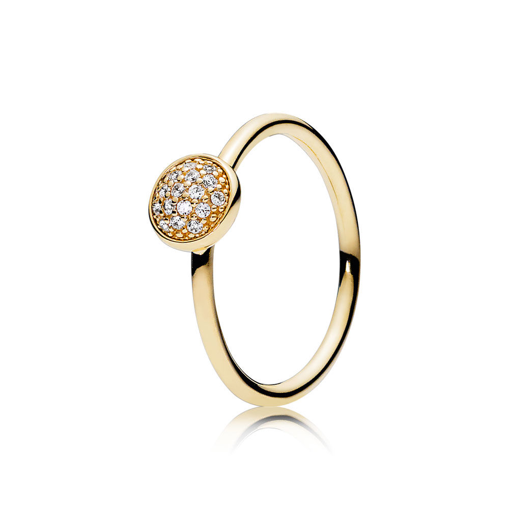 30% Silver Dazzling Droplet Ring For Women Pave Clear CZ Gold Colour Girl Finger Anel Gift fit Lady Jewelry