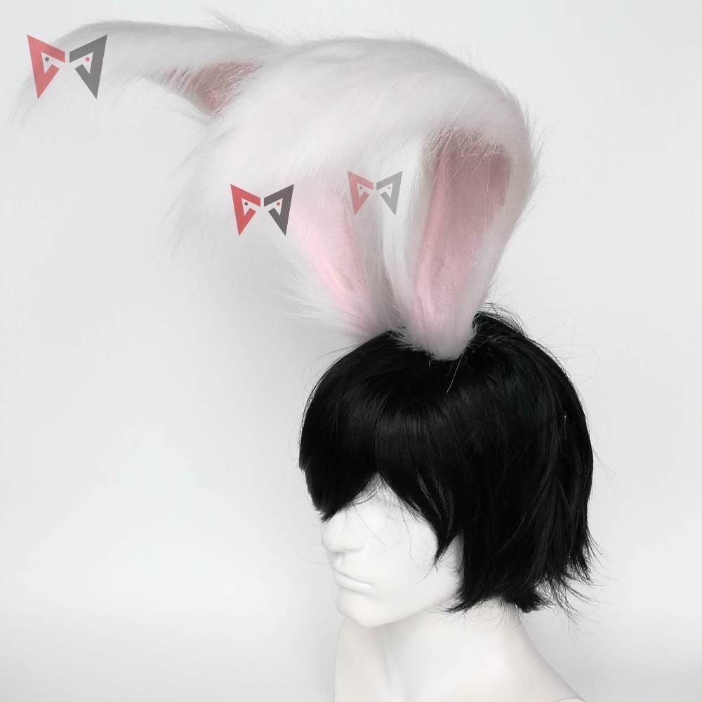 New Rabbit Kingdom Cosplay Carnaval Gothic Lolita Acessories Fox Ear Hair Hoop Headwear For Girl Women Kids Hand Work