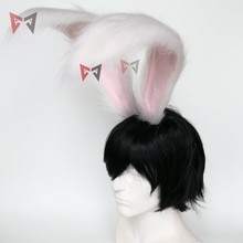 Yeni tavşan krallık Cosplay karnaval gotik Lolita aksesuarları tilki kulak saç çember şapkalar kız kadınlar için çocuklar el işi