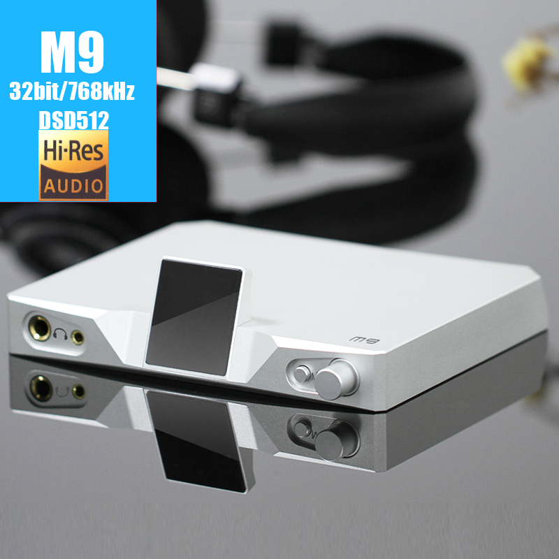 SMSL M9 USB DAC XMOS 32bit/768 kHz DSD512 AK4490 * 2 audio HiFi Numérique Décodeur Optique/Coaxial/USB DAC Casque amplificateur AMP