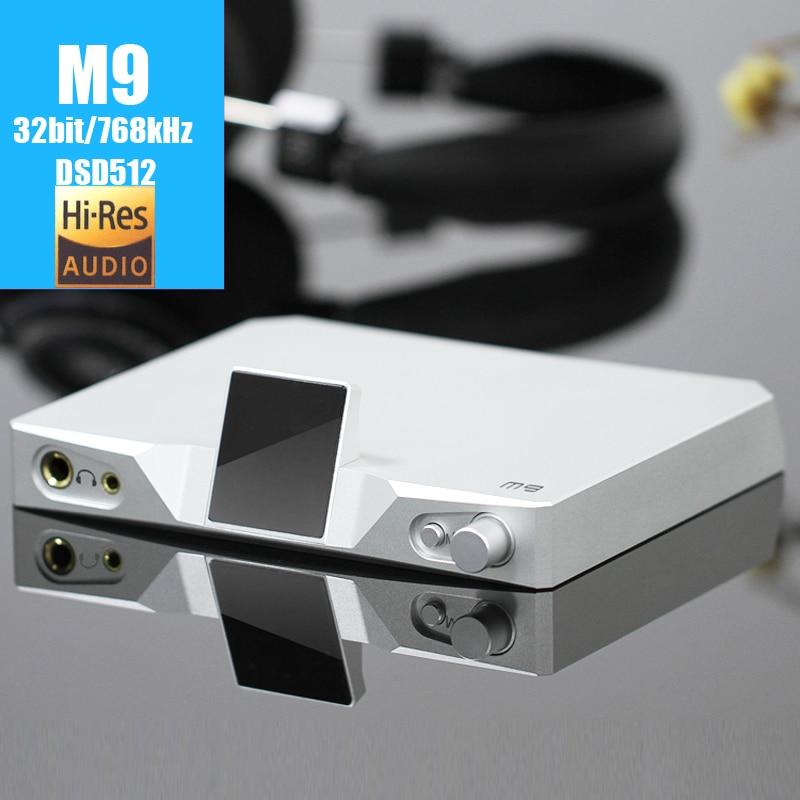 SMSL M9  USB DAC XMOS 32bit/768kHz DSD512 AK4490 *2 audio HiFi Digital Decoder Optical/Coaxial/USB DAC Headphone amplifier  AMP