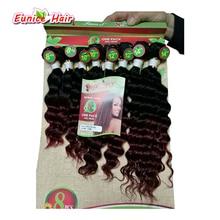Custom Brazilian Kinky Curly hair human weave Ombre Kinky Curly Hair Weave Wet And Wavy Ombre Curly Weave crochet Hair Bundles