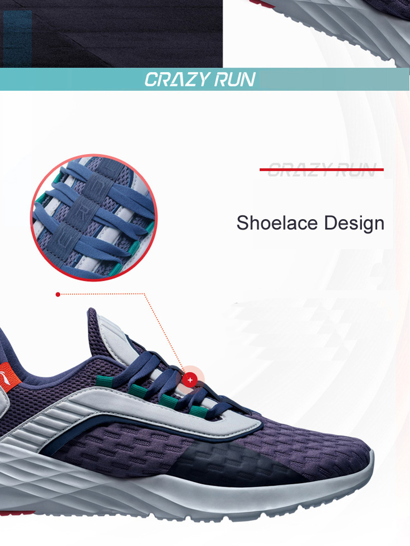 Foto of lace Men's cushion running shoes. Men's cushion running snakers