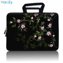 Bunga 9.7 11.6 13.3 14.1 15 15.4 15.6 17 17.3 Inch Laptop Briefcase Lengan Notebook Case Tas untuk HP Asus dell Lenovo SBP-23886(China)