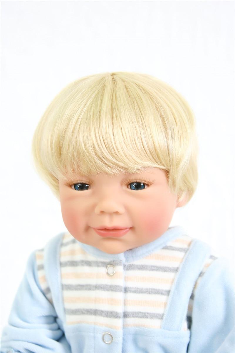 Poupées silicone reborn bébé garçon poupées vraie blonde Bebes reborn menino bonecas 55 cm avec peluche Surprise cadeau Santa bebe - 4