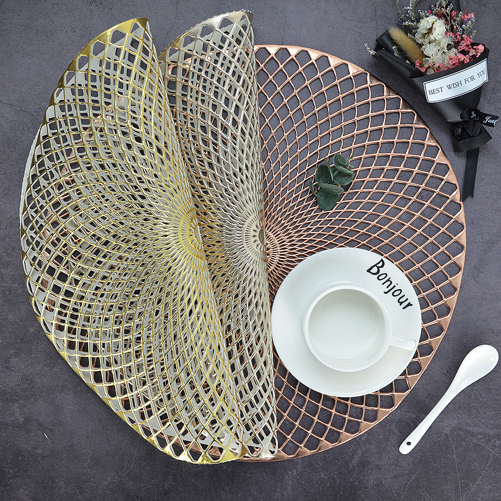 Hollow Silicone Round Heat Non-slip Cup Pad Placemat Dinning Table Mat Charm