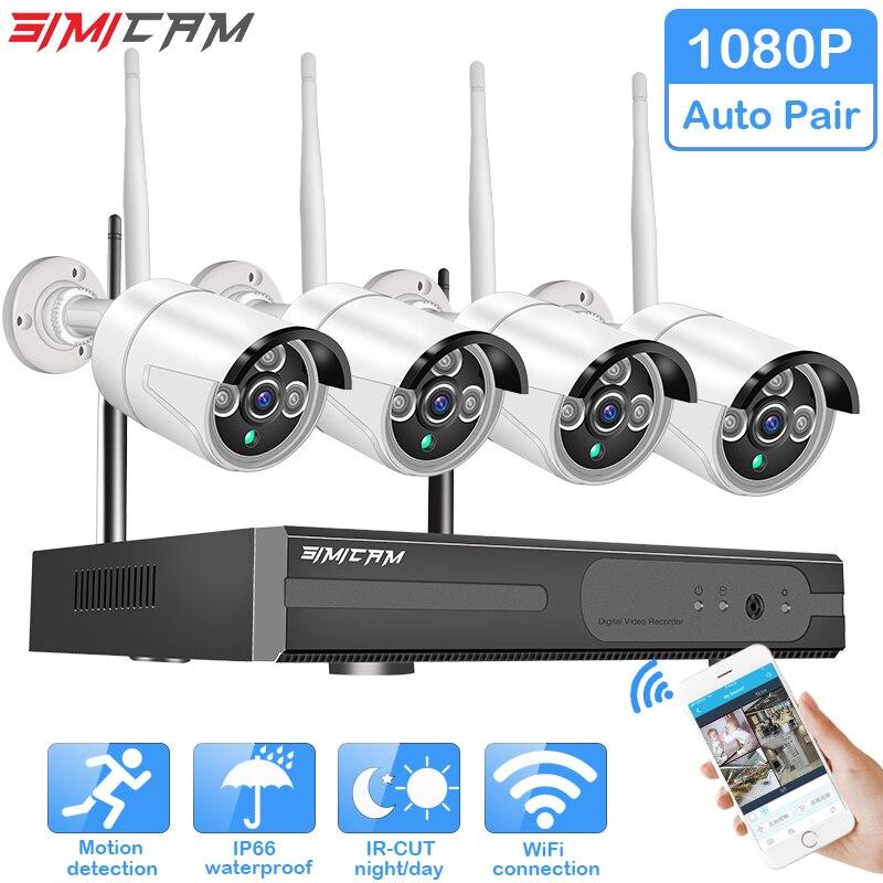 Wireless CCTV System 1080P Hard Drive Video 2MP 4CH NVR IP IR-CUT outdoor CCTV Camera IP Security System video Surveillance Kit цена