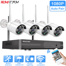 Wireless CCTV kit 1080P 4pcs 2MP NVR IP IR-CUT outdoor Indoor Waterproof CCTV Camera IP Security System Video Surveillance Kit video surveillance camera system wireless cctv kit 1080p ip nvr kit ip camera outdoor security system video surveillance kit