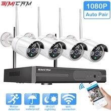 Беспроводная система видеонаблюдения 1080 P жесткий диск видео 2MP 4CH NVR IP IR-CUT наружная камера видеонаблюдения ip-система безопасности комплект видеонаблюдения