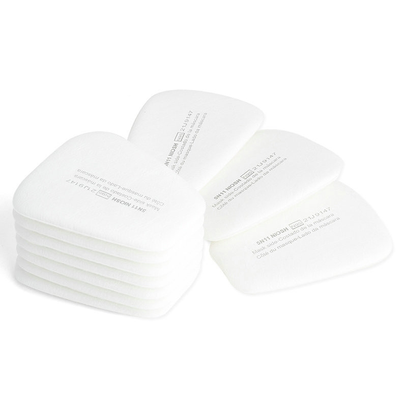 10PCS 5N11 Respirator Filters Cotton Gas Mask Facepiece Respirator Replacement fit for 5000 6000 Series Cartridges N95 3m 6300 6003 half facepiece reusable respirator organic mask acid face mask organic vapor acid gas respirator lt091