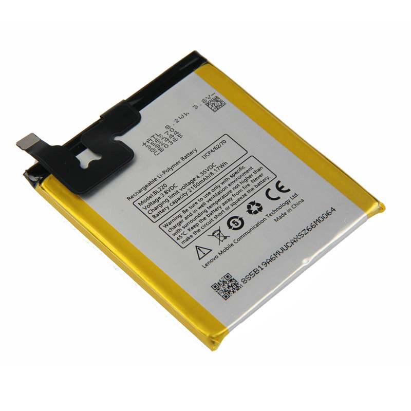 Original High Quality BL220 Battery For Lenovo S850 S850T 2150mAh in Mobile Phone Batteries from Cellphones Telecommunications
