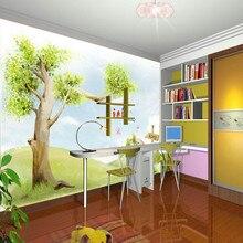 Большие Настенные обои для мальчиков детская Настенная роспись с окружающей средой Нетканая настенная бумага в сказочный фон homedecoration