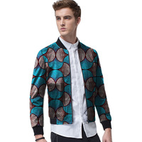 African clothes customized men's baseball jackets stand collar Ankara coat male casual jacket