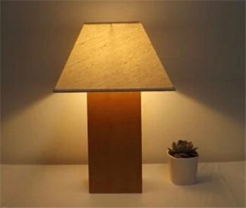 Китайский стиль dowm ткани абажур деревянный Настольный Светильник E27 лампа спальня прикроватная лампа настольная Декор лампы dy-1435