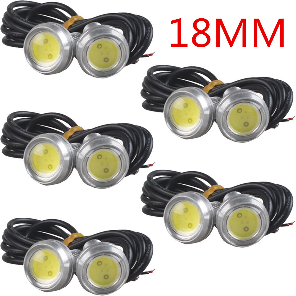CYAN SOIL BAY 10X LED Eagle Eye White Light Daytime Running DRL Tail Light Car Auto DC12V 24V 9W High Power white bulb led light high power daytime running driving light eagle eye drl car lamps condenser lens for auto car white drl eagle eye 10w led lens
