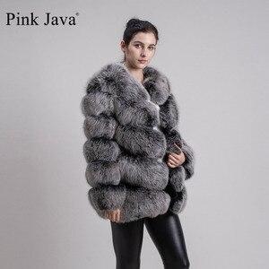 Image 3 - ורוד java QC8066 באיכות גבוהה נשים אמיתי שועל פרווה מעיל wihter חם עבה שועל פרווה מעיל אמיתי פרווה קצר מעיל ארוך שרוולים