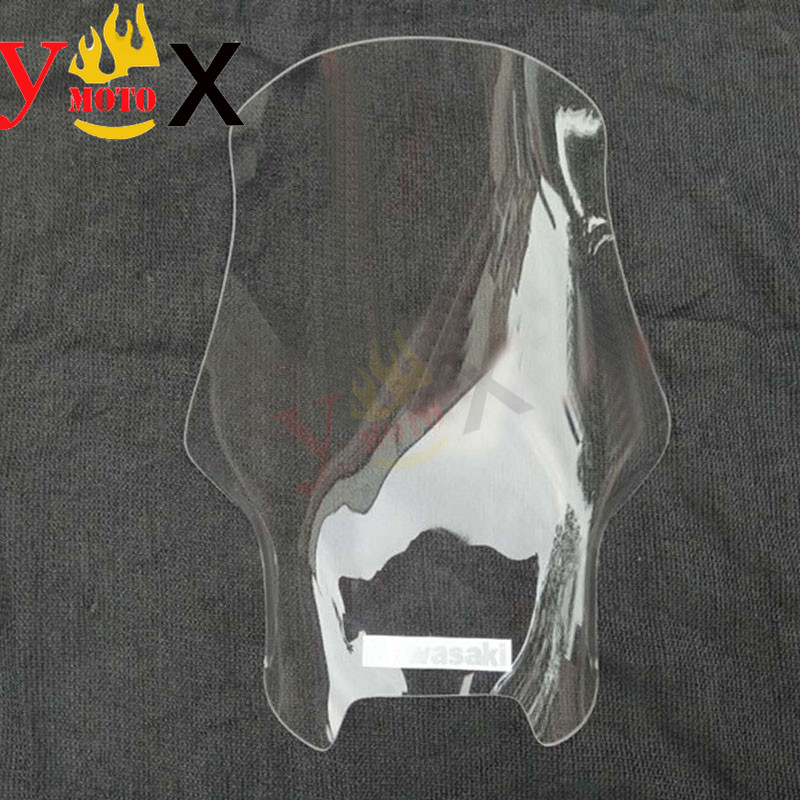 Rise Height Motorcycle Clear Windshield Windscreen Deflector Airflow For KAWASAKI VERSYS 650 KLE650 2010-2013 2011 2012