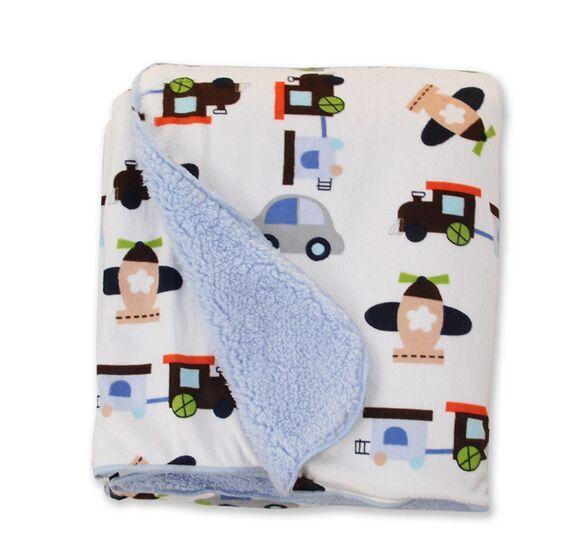 2018 New Design Baby Blanket 76*100 Cm Children Warm Fleece Blanket on Bed Soft Plaid Throw Blanket Etrq0003 new warm blanket soft blanket on bed warm throw blankets travel blanket 120cm 150cm free shipping without label