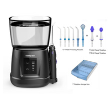 IPX7 Touch switch tooth Clean pick massage, Oral Hygiene Water Dental Flosser oral Irrigator + 6 tips + box + 2 nasal nozzle