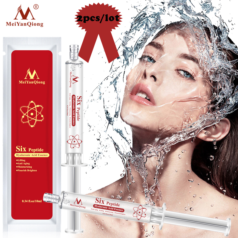 2pcs Hyaluronic Acid Injection Face Serum Liquid Tights Anti-Wrinkle Anti Aging Collagen Facail Essence Moisturizing Whitening
