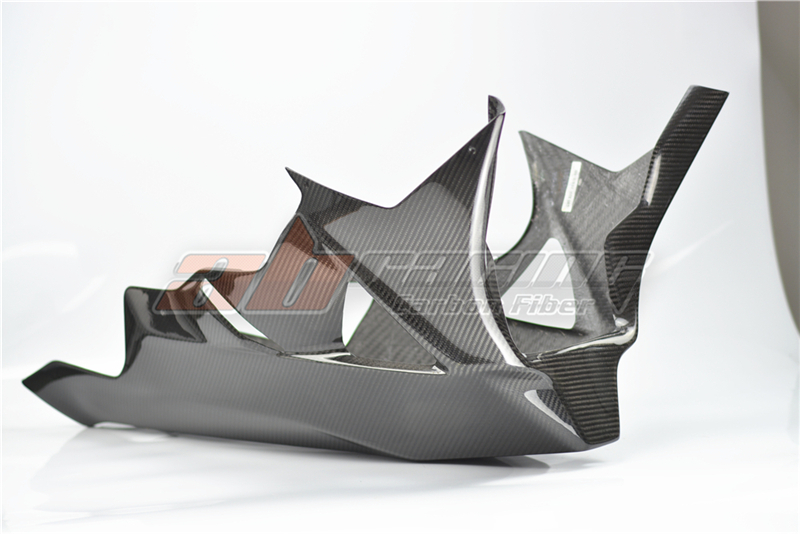 Lower Side Panels Belly Fairings For BMW S1000RR 2009 - 2014 HP4 Full Carbon Fiber  100% TwillLower Side Panels Belly Fairings For BMW S1000RR 2009 - 2014 HP4 Full Carbon Fiber  100% Twill