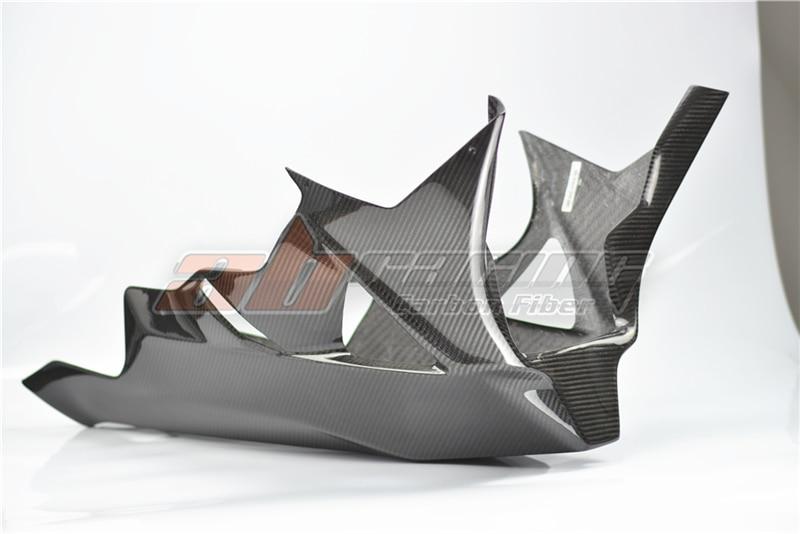 Lower Side Panels Belly Fairings For BMW S1000RR 2009 - 2014 HP4 Full Carbon Fiber  100% Twill