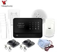 YoBang Security Home Security Touch Keyboard GPRS Wireless Alert System IOS Android APP Control Smoke Sensor WIFI Keyboard .