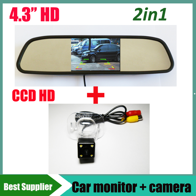 4 3 Inch Car Rear View Mirror Monitor Special Car Reverse rear view parking Camera for