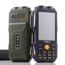 """Прочный мобильный телефон для пожилых людей FSMART TKEXUN Q8 аналоговый ТВ 3,"""" двойной фонарик телефон ударопрочный пылезащитный внешний аккумулятор мобильного телефона"""