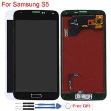 Оригинальный Amoled дисплей для Samsung Galaxy S5 ЖК-дисплей сенсорный экран в сборе с домашней кнопкой SM-G900F G900A G900H дисплей