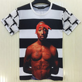 2017 new rap stat 2pac Tupac print hip hop t shirt for men boy street tops tees casual tshirt  t-shirt