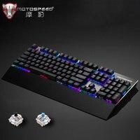 Motospeed CK108 игровая механическая клавиатура 104 клавиш с опора для рук USB Проводная антипривидная RGB подсветка светодиодный клавиатура для ПК иг...