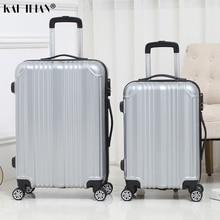 20 мм/22 мм/24 дюймов сумки на колёсиках sipnner колеса Для женщин масштабных дорожных чемоданов, мужские популярные модные тележка для багажа чемодан с шифрованным замком ABS+ PC бленда для объектива