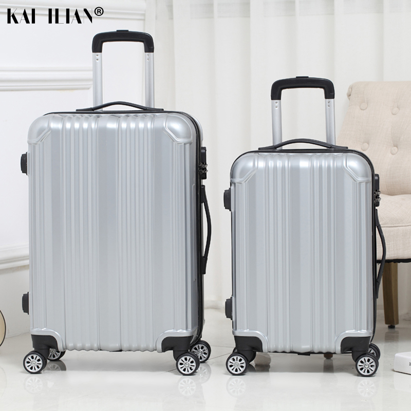 NEW 20/22/24 Inch Rolling Luggage Sipnner Wheels Women Travel Suitcase Men Popular Fashion Trolley Luggage Password Box ABS+PC