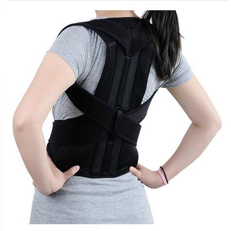 AOFEITE Back Shoulder Bandage Support Brace Straightener Posture Corrector Vest Back Support Belt Correction Back Scoliosis